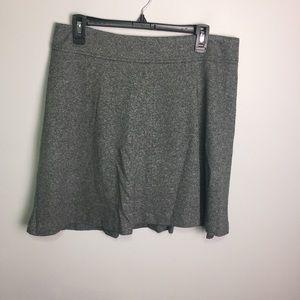 Ann Taylor Loft Gray 100% Cotton Skirt Sz 10